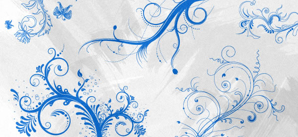 Freebie Release: 5 Floral Ornaments Vector Brushes Post Image